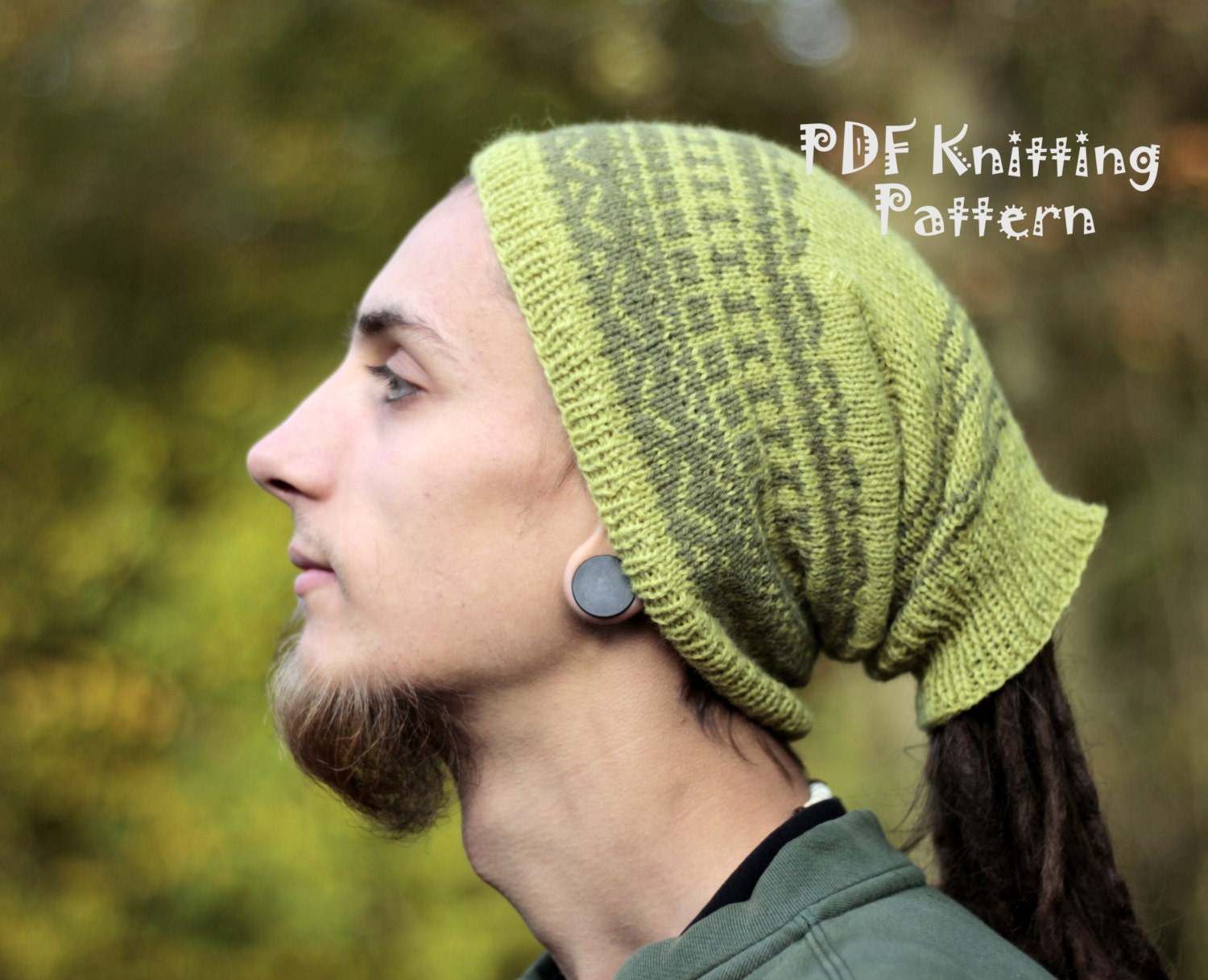 Dreadlock Hat for Man - Knitted - with open end - for low gathered ...