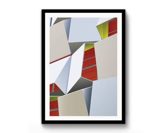 Modernist / Sheffield / Cheese Grater / Print / A3 / Illustration