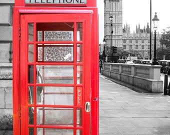 London Big Red Payphone