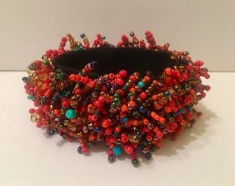 Red Massai Beaded braclet