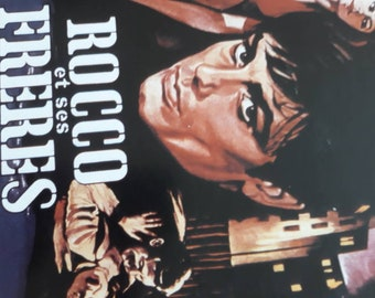 A photo of views of film with a film by Luchino Visconti with Alain Delon and Annie Girardot Roger Hanin in Rocco and his brothers