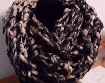 Peppery Loose Arm Knit Infinity Scarf
