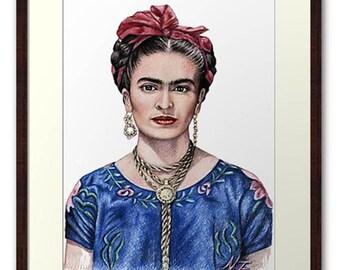 Hommage to Frida Kahlo - Fine Art Print 20 x 30 cm