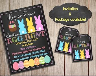 Printable Custom Easter Invitation, Easter Party Package, Easter Brunch, Egg Hunt