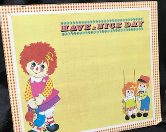 Vintage Raggedy Ann and Andy Bulletin Board
