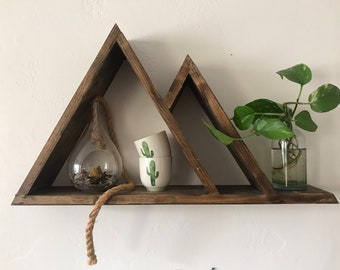 Mountain Triangle Shelves - Rustic Decor for the Home!