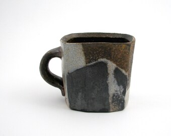 Wood Fired Squared Porcelain 16 oz Mug