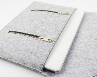 Felt Macbook case, 2017 Macbook 15 Pro case, New Macbook 15 Pro case, 2016 new Macbook 15 Pro sleeve, macbook case, laptop case ZMY005LG