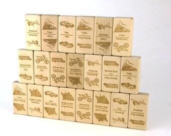 Transportation Dominoes 21 pc Maple Blocks