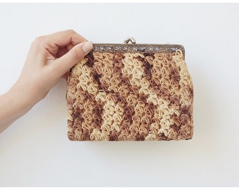 Mid-century Evening Purse Vintage Purse Evening Clutch Crochet Woven Purse Change Purse Clutch bag