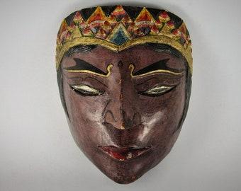 Panji mask - Wayang Golek mask - Indonesian Theatre Topeng mask