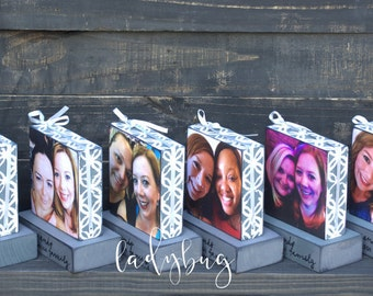 Friends become our chosen family. Set of six blocks. Friendship. Family,  Bridesmaid, Maid of honor, brides by Ladybug Design by Eu.