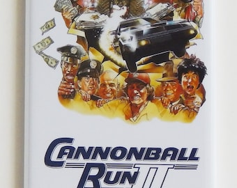 Cannonball Run 2 Movie Poster Fridge Magnet (1.5 x 4.5 inches)