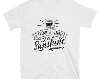 Tequila Shirt, Tequila Lime & Sunshine, Drinking Shirt, Summer Shirt, Summer Drinking, Bachelorette Shirt, Bachelorette Party, Beach Shirt