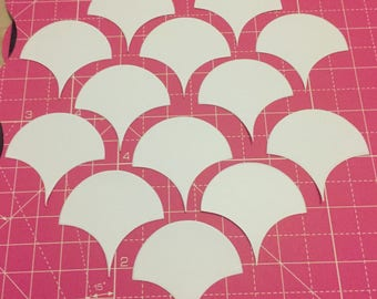 English Paper Piecing Clamshells 2inches 50