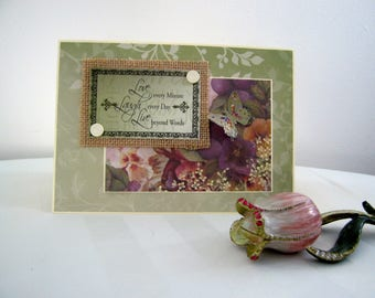 greeting cards,handmade greeting cards,blank cards,3-D cards,unique cards,special,butterfly,glitter,burlap,inspirational cards,pansies