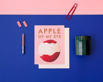Apple of My Eye Love Card