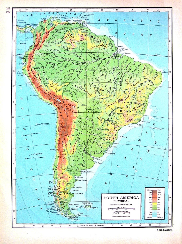 Australia mapa fsico de amrica del sur 1947 2 gran libro ampliar gumiabroncs Gallery