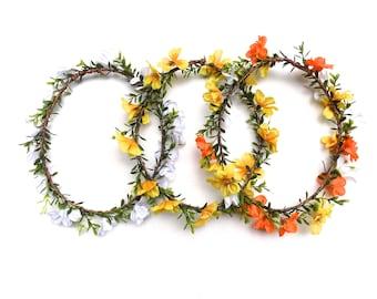 Sunshine Daydreamin' flower crown | simple woodland flower crown | floral headpiece for weddings, bachelorette, music festivals
