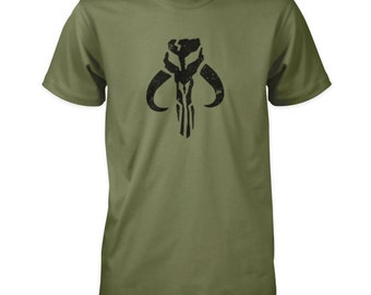 Mandlorian Mythosaur Skull T-Shirt - Boba Fett Bounty Hunter Star Wars
