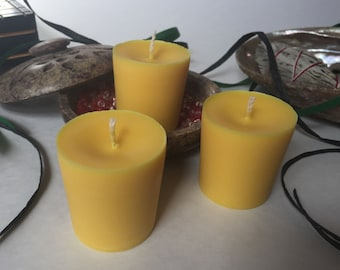 Yellow Unscented Soy Wax Votives