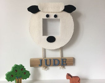 Children's farm animal picture frame or mirror