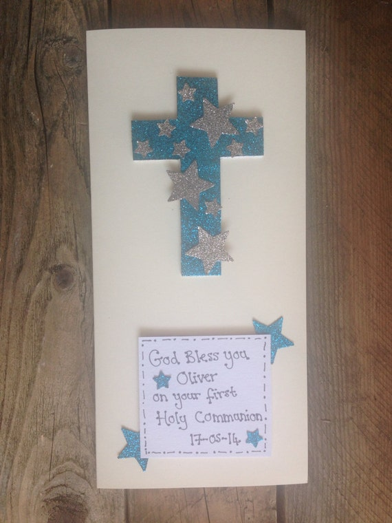 items similar to communion or confirmation card sparkly