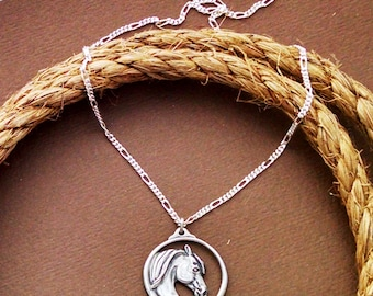 Horse Necklace | Horse Jewelry | Horsehead Pendant | Gift for Horse Lover