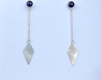 Sapphire Kite Drop Earrings