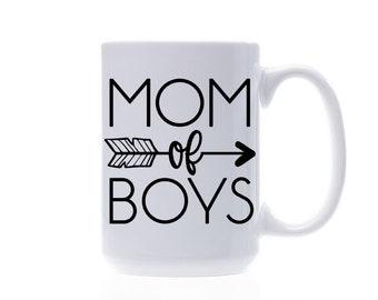 Coffee Mug - Custom Quote Coffee Mug - Mom Of Boys Coffee Mug