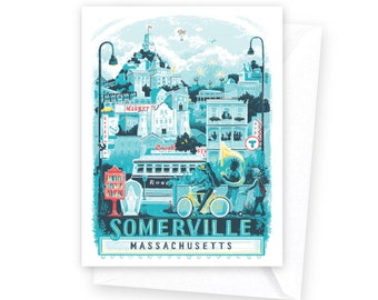 Somerville, MA Notecards • set of 8
