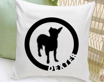 Personalized Pet Pillow - Dog Silhouette Decorative Pillow - Dog Home Decor - GC1235