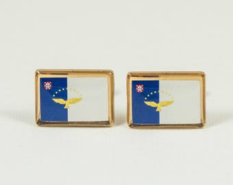 The Azores Flag Cufflinks