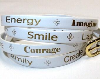 Empowerment Word Bracelet, Empowerment Bracelet, Inspiration Word Bracelet, Motivational Braceleet, Empowerment Jewerly