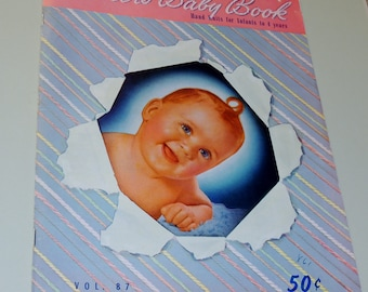 1950 Fleishers baby book, hand knits for Babies