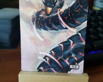MTG Altered Art - Ryusei, The Falling Star