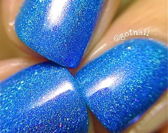 Holographic - Blurple Surprise:  Custom-Blended Glitter Nail Polish / Indie Lacquer / Polish Me Silly