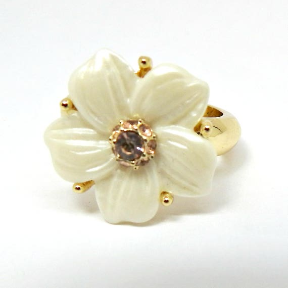 WHITE simple RING for women, perfect gift for women