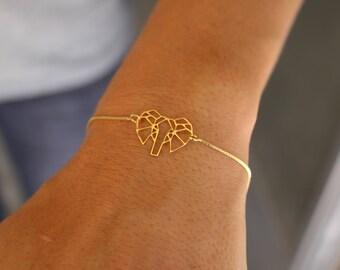 Elephant Bracelet, Dainty Bracelet, Charm Bracelet, Bracelet For Woman, Silver Bracelet, Animal Bracelet, Elephant Jewelry, Elephant Charm