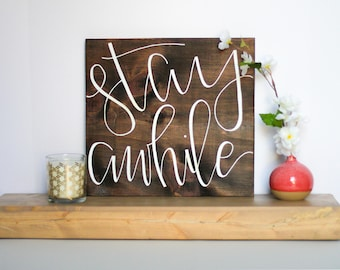 Square Wood Quote Sign - 1 inch