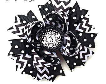 Personalized Bow, Personalized Bow, Personalized Hairbow, Initial Hair Bow, Initial Hair Clip, Initial HairBow, Designer Hair Bow, Name Bow