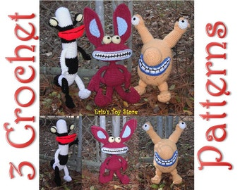 3 Real Monsters 3 Crochet Patterns by Erin Scull
