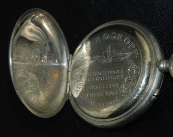 Beautiful Vintage Antique Steampunk Roskopf Pocket Watch Body Case S 53