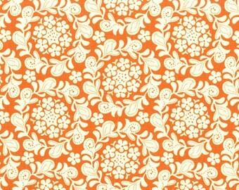 Strawberry Moon - Petit Henna Garden in Orange by Sandi Henderson- 1 yard - Michael Miller Fabric