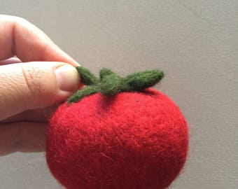 Felted Vegetable Felting Tomato Play Food Waldorf Wool Education Toy Kitchen Decor