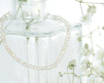 Pearl Bracelet Silver 925, Freshwater Pearl Bracelet, Real Pearl Bracelet, Ivory Pearl Bracelet, Jewellery, Bridesmaid Gift, Wedding Gift