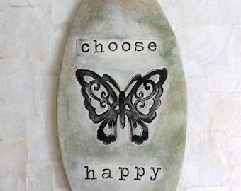 Choose Happy | Ceramic wall hanging