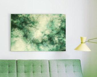 Green smoke original painting Green abstract art Abstract canvas art Green painting Green abstract wall art Original abstract painting