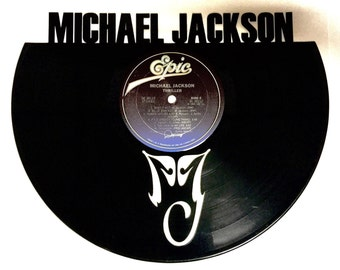 Recycled Vinyl Record MICHAEL JACKSON Wall Art