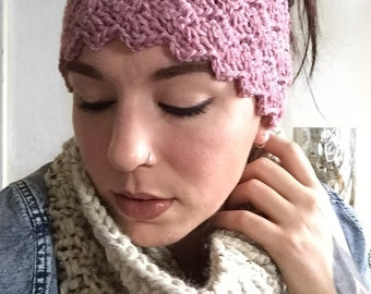 Cross Hatch Ear Warmer Headband